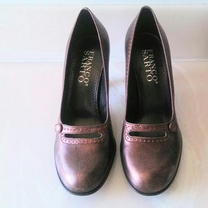 Franco Sarto Bronze Heels Shoes